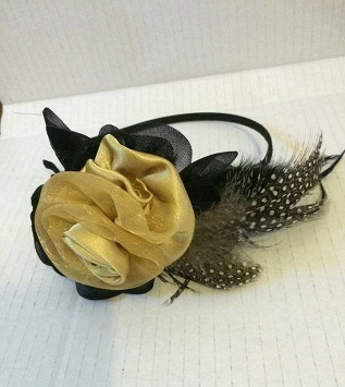 Gold Rose on Headband $45