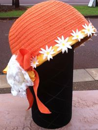 LA Frockme Orange Flower Cap $50