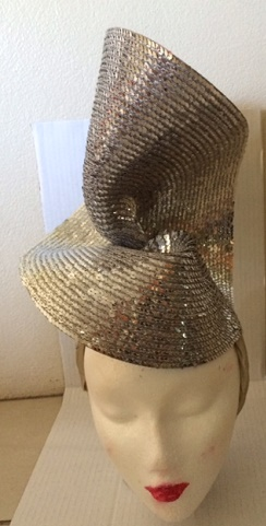 Silver Sequin Fascinator sold
