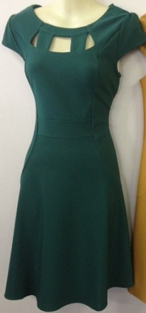 Green Skater Cutout Dress S14
