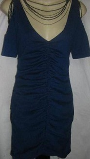 Navy Rouched Fever Dress S8,10,12