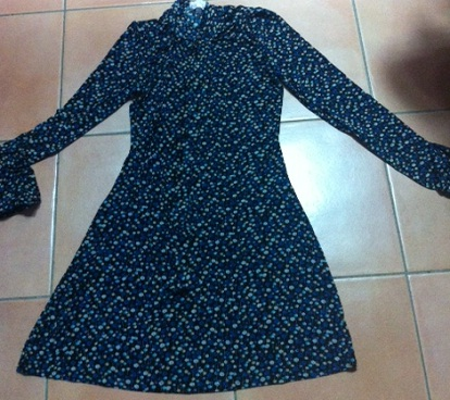 Floral Vintage Dress with long Sleeves S8,10,12