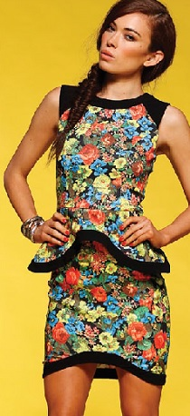Floral peplum Dress S12