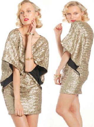 Gold Grace Hart Dress S8,10, 14