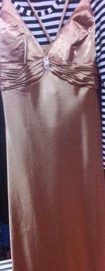 Gold Satin Gown S14
