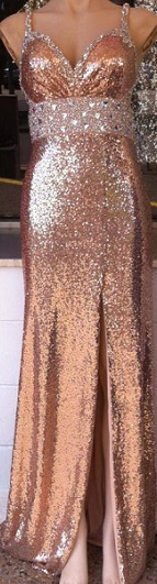 Copper Sequin Gown S14 Silver S12