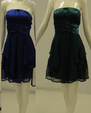 Party Cocktail Dress  Blue S14, Green S8