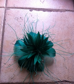 Green Feather Facinator