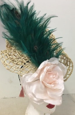 Green Feathers on net $110