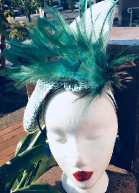 Green on Green Feather $110