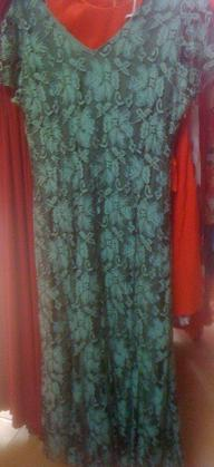 3/4 Length Lace Dress with small sleeves Green S12 Grey Lace Dress S12/14