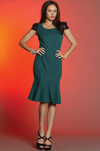 Green with Lace Dress S8,10,12
