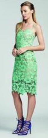 Lace Dress Green S8 Navy S6