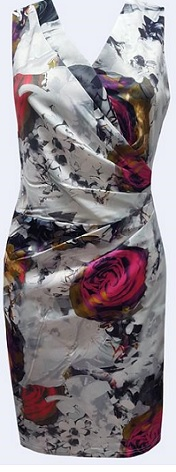 Grey Shade Floral Dress S12,14