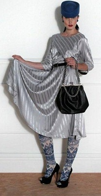 Grey Stripe Dress S14/16