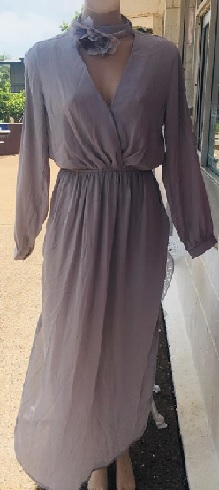 Grey Sleeved Maxi S8/10