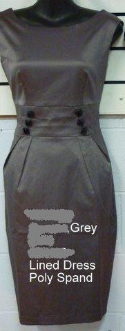Grey Tailored Dress S14