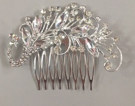 Silver Bling Haircomb $25