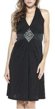 Halter Blk Diamond Cocktail Dress S14