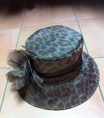 Brown Print Hat
