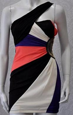 One Shoulder Multi Colour Dress S8,10,12