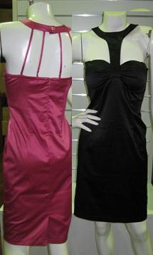 Fitted Dress with Neck Feature S6 Pink Only