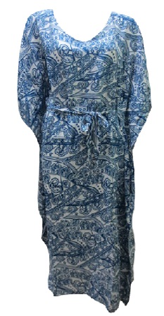 Kaftan Blue Print Rayon S12/14 (knee length only)