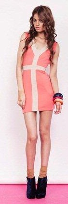 Body Neon Pink/Coral Dress S10