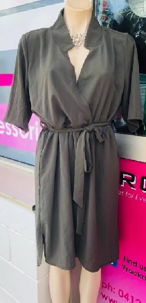 Khaki Work Dress S10,12,14