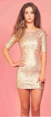 Gold Sequin Dress S12