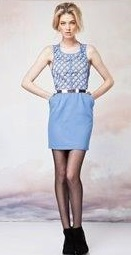 Lattice Dress Black Sold  Blue S8