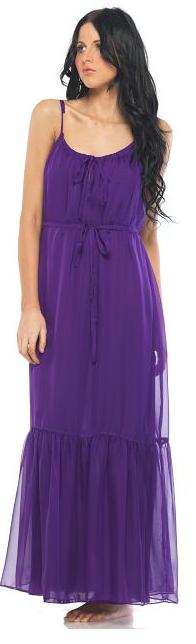Deep Purple Chiffon Maxi S10-14