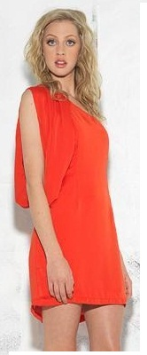Burnt Orange One Shoulder Dress S10,12
