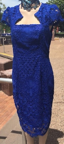 Cobalt Lace Dress S16 Navy S12,16,18