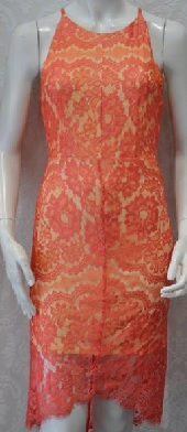 Coral Lace Dress S12