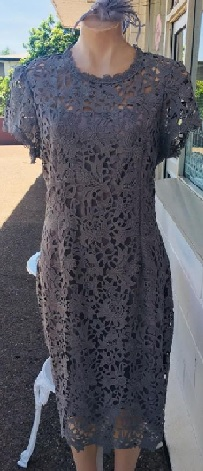 Grey Lace Dress S16