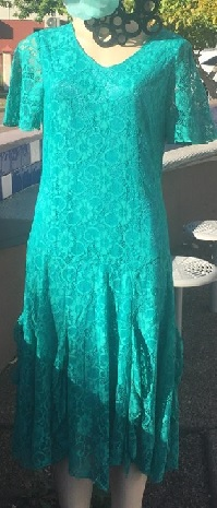 Lace with sleeves Dress Jade S10.12.14.16 Blue S10,14