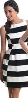 Black White Stripe with pockets dress S14