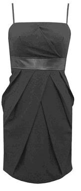 Leather Waisted Dress S10-12 BLACK / PURPLE S8-14