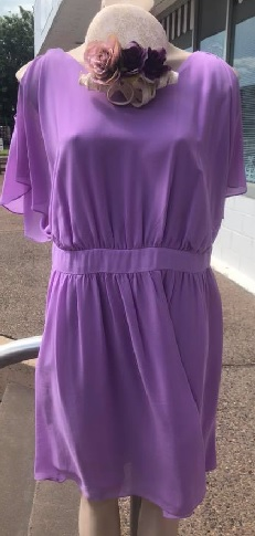 Lilac Chiffon Dress S10,12,14