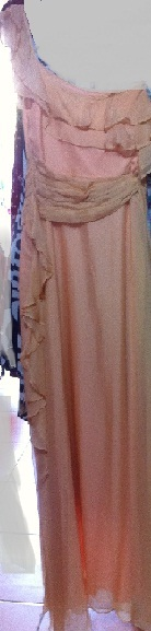 Honey Beau Apricot Maxi 100% Silk S8/10