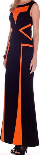Black Maxi Detailed in Orange S8  Black White 10,12 Blue White S10,12,14