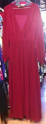 Maxi Burgandy with long sleeves S14