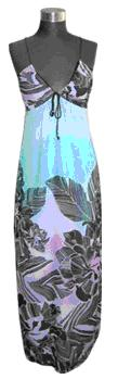 Hawaiin delight maxi with ties S10
