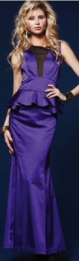 Peplum Maxi  Purple S8