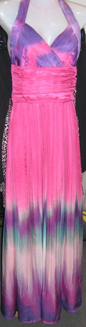 Pink Purple Silk Maxi Dress S,M