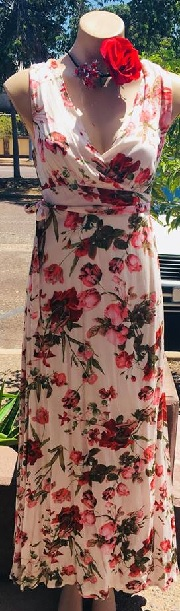 Print Pink Floral Maxi S6/8