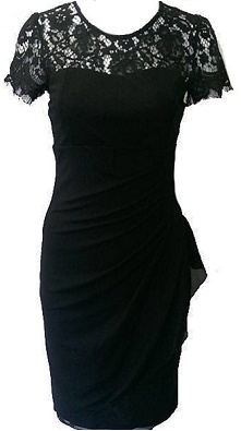 Black Dress with Lace Sleeves S6,8