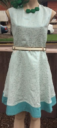 Mint with Sparkle Dress S14
