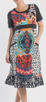 Multi Print Pocket Dress S14